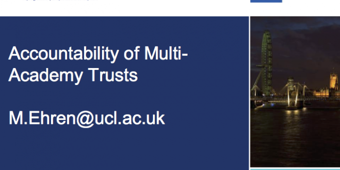 Preliminary findings from a case study of external accountability of a Multi-Academy Trust